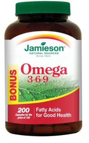 オメガ3-6-9 /JAMIESON OMEGA 3-6-9 150カプセル+50カプセル(ボーナスパック)