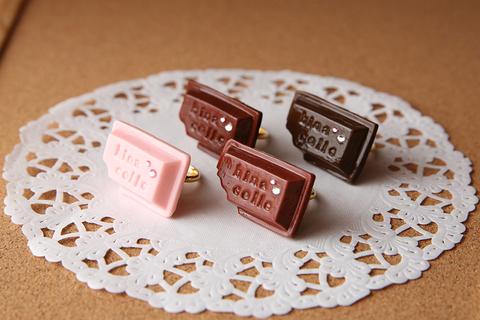 板チョコリング(ピンク)