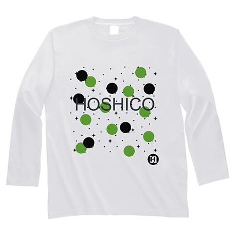 HOSHICO / Neo Crazy Dot Long Sleeve T-shirt White & Green