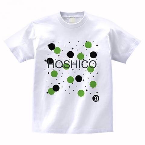 HOSHICO / Neo Crazy Dot T-shirt White & Green
