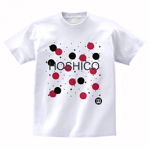 HOSHICO / Neo Crazy Dot T-shirt White & Red