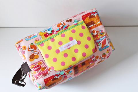 【送料無料】おしりふき内蔵型おむつポーチ キャンディーガレット