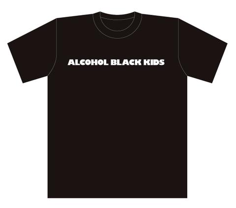 ALCOHOL BLACK KIDS T-Shits BLACK