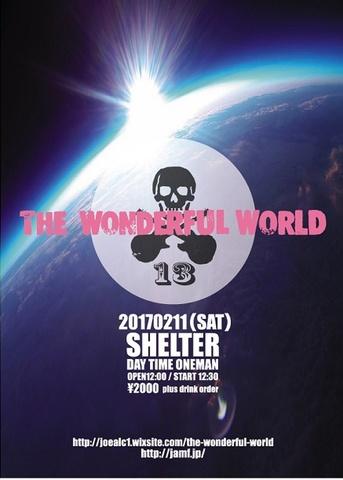 【限定特典付】2017/2/11(土)THE WONDERFUL WORLDワンマンライブ前売チケット