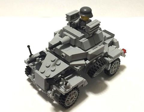 ドイツ軍Sd.Kfz 222 MGバージョン 軽装甲偵察車