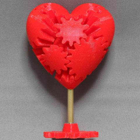 "3Dプリンター版歯車のハートデータ 3D Printer ""Gear's Heart""data"
