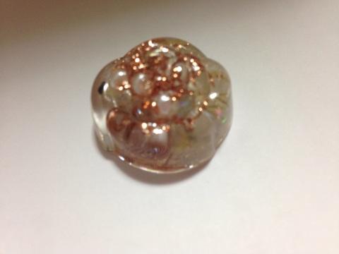 真珠入りミニ薔薇オルゴナイト