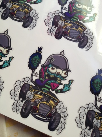 ☆IRON CROSS MONSTER STICKER☆
