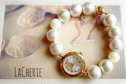 Cotton Pearl Hearing Watch BR