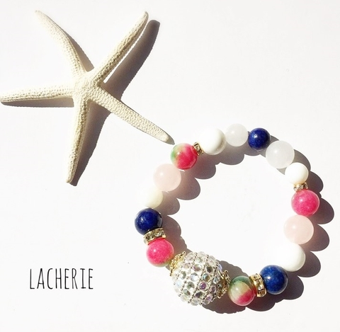 Big Stone Series ... BLUE×PINK BR「Lucky&Happy」