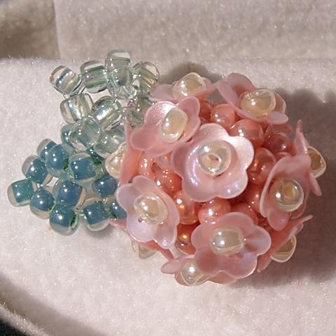 紫陽花のイヤリング【ピンク】