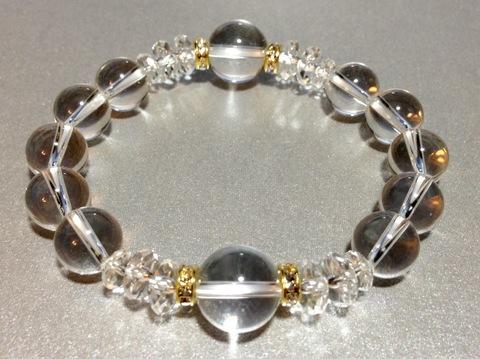 白水晶ブレス(12ミリ、10ミリコンビネーション)