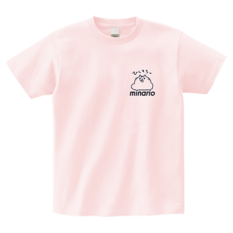 minario / NYAN-2・ひしもち。 OnePoint T-shirt Light-Pink
