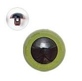 12mm  プラスチックアイ マットカラー  グリーン