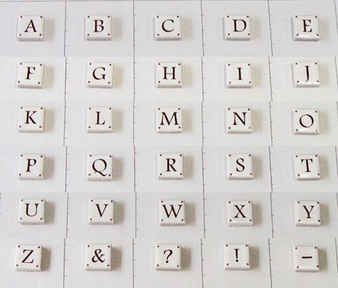 15mm角アルファベットタイル(大文字)