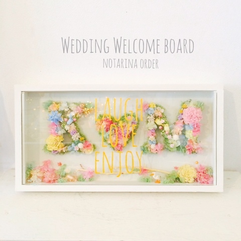Alphabet WELCOME BOARD -paint-
