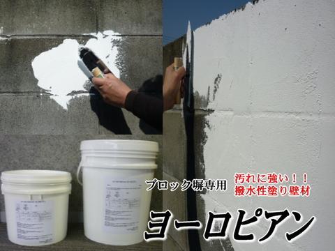 ブロック塀専用塗り壁材     ヨーロピアン 20kg缶