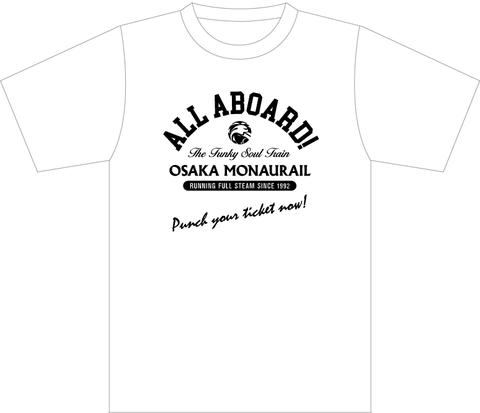 【Tシャツ】ALL ABOARD! Tシャツ(色:ホワイト)