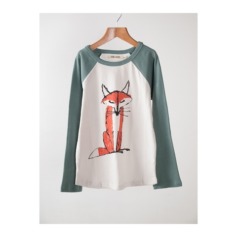 【SALE】50%OFF ☆【BOBO CHOSES】Fox Raglan T-shirt. AW15-056