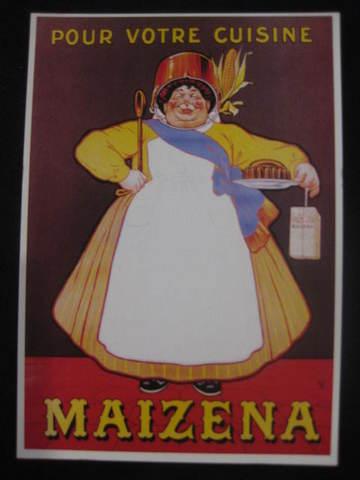 【アンティ-クポストカード】 フランスニース :MAIZENA おばさま