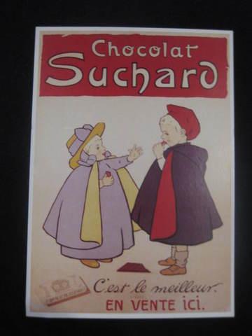 【アンティ-クポストカード】 フランスニース :チョコレート Sucharo