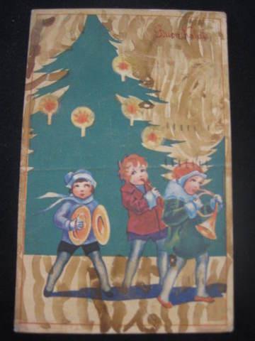 【アンティ-クポストカード】(切手なし)Buon Natale( Merry Christmas ) : 1941年