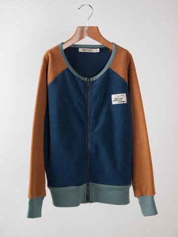 【SALE】50%OFF ☆【BOBO CHOSES】Sweatshirt Zip Sherpa Blue. AW15-77
