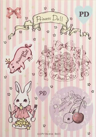 pd7015-1 PD歴代キャラクターステッカー(Pink)