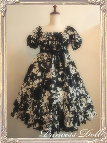 1070-1 Rose Baby Doll(Black)