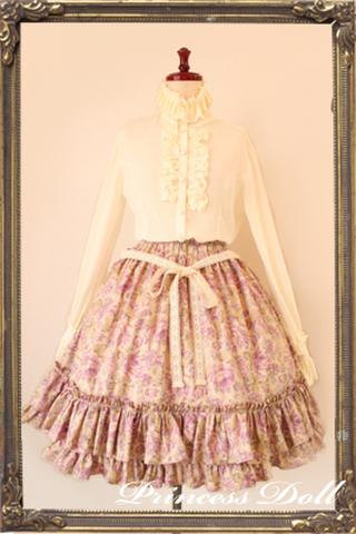 pd2047-3 Candy Flower Skirt (Plum)
