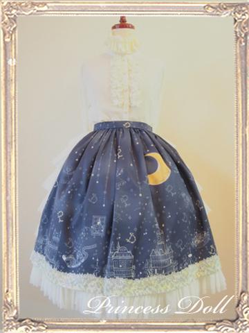 pd2053-2 わたしにつもる星の夜スカート(真夜中)