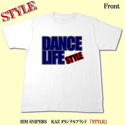 「DANCE LIFE」Tシャツ(ホワイト)