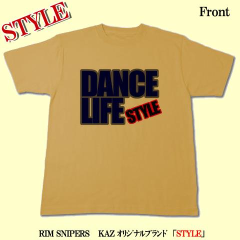 「DANCE LIFE」Tシャツ(キャメル)