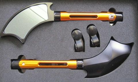 アルミ製ミラーVer1 ブラック/オレンジ