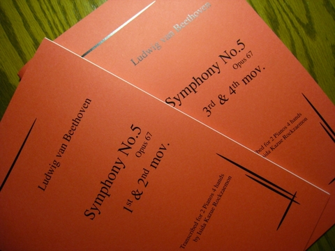 Ludwig van Beethoven, Symphony No.5 運命 2分冊セット