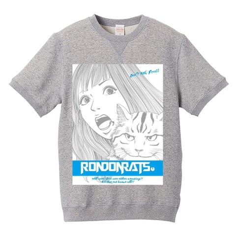 M with Beesuke スウェットTシャツ(gray)(文字水色)