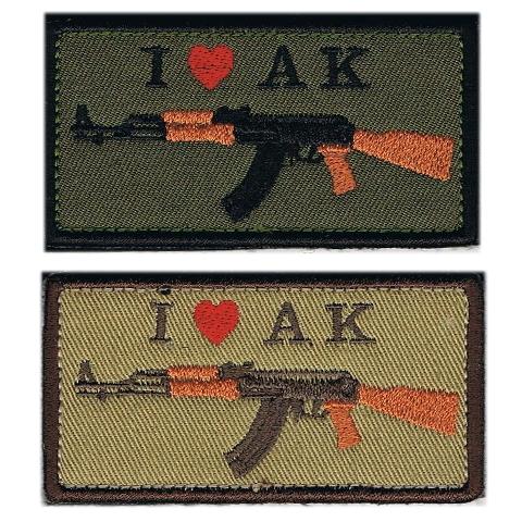 I LOVE AKパッチ(AK-47)