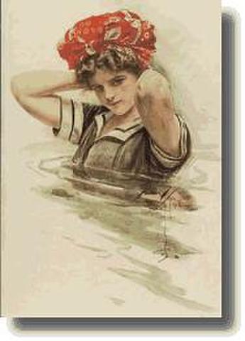 CARD 「GIRL IN WATER」