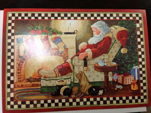 Santa Clause Christmas Card