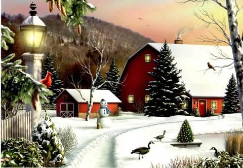 """Christmas Card """"Home"""""""