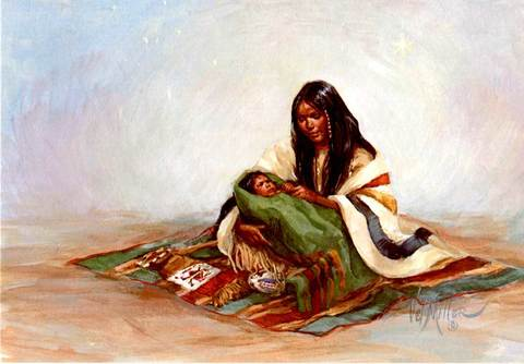 "Christmas Card ""Indian Madonna"""