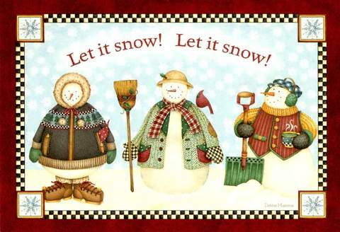 """Christmas Card """"Let it Snow"""""""