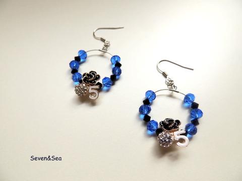 ブルー&ブラックNO5ピアス
