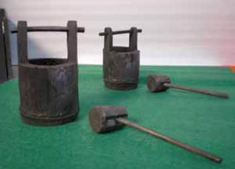 竹炭・おけ、柄杓セットT(35)