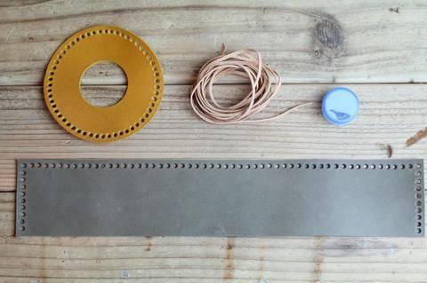 レザーガスカバーDIYキットMサイズ yellow/gray