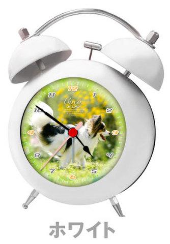 写真入り目覚まし時計(ホワイト)