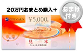 [おまけ付き]UCギフトカード 20万円分+おまけ21,000円分