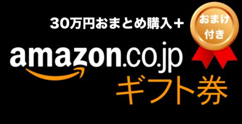 [おまけ付き]Amazonギフトコード(30万円分+おまけ32,000円)