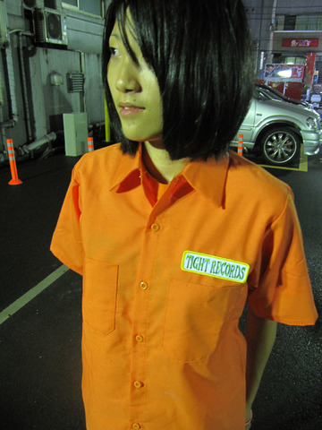 TIGHTワークシャツ オレンジ!