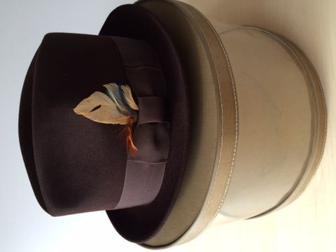 Vintage50's - 60's.montgomeryward hat with Box